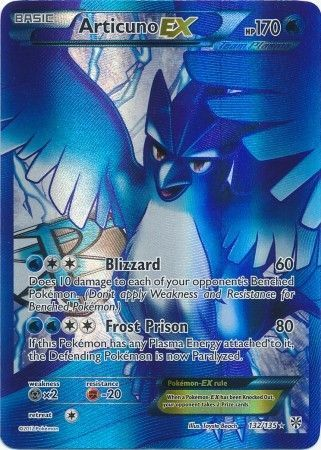 Articuno-EX - 132 135 - Full Art Ultra RareArticuno Ex Pokemon Card