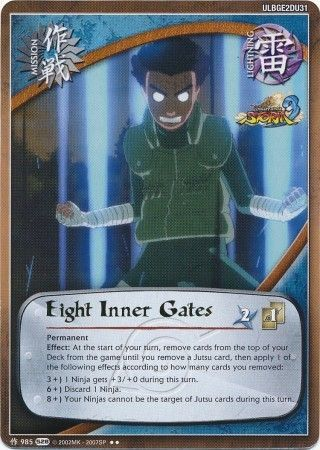 Eight Inner Gates 985 Rare Naruto Ultimate Ninja