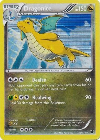 Dragonite 83 116 Holo Rare Black Amp White 9 Plasma