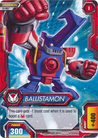 Ballistamon S1 007 Common Digimon Fusion New World