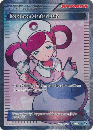 Pokemon Center Lady - 105/106 - Full Art Ultra Rare