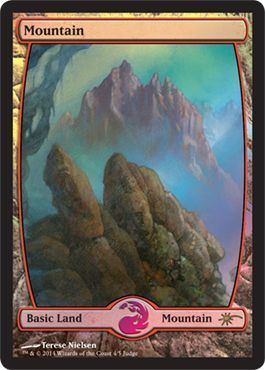 Mountain Full Art Judge Foil Promo Cards Magic The