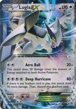 Lugia ex 68 98 ultra rare xy ancient origins singles pokemon