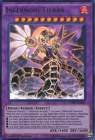 Infernoid Tierra Core En049 Ultra Rare 1st Edition