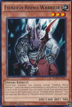 Fiendish Rhino Warrior Bosh En091 Rare 1st Edition