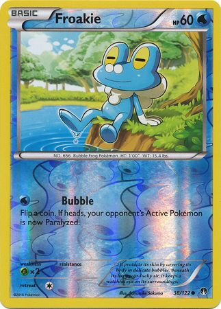 3x Froakie - 38/122 - Common Reverse Holo Near Mint ...