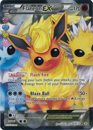 Flareon Ex Rc28 Rc32 Full Art Ultra Rare Generations