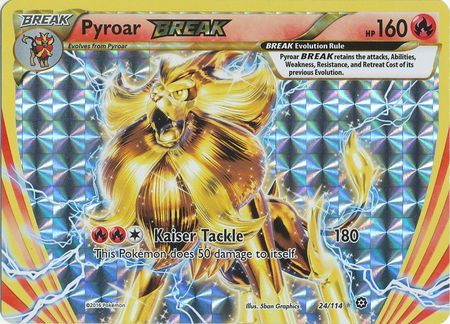 Pyroar Break 24 114 Break Rare Xy Steam Siege