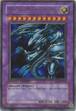Blue Eyes Ultimate Dragon Jmp En005 Ultra Rare Yu Gi