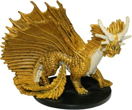 Large Gold Dragon #10 Night Below D&D Miniatures DDM (Includes ...