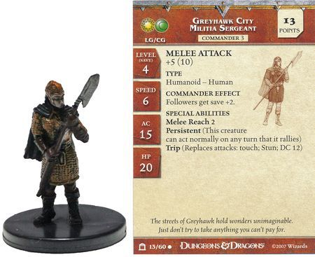 Greyhawk City Militia Sergeant 13 Night Below D Amp D