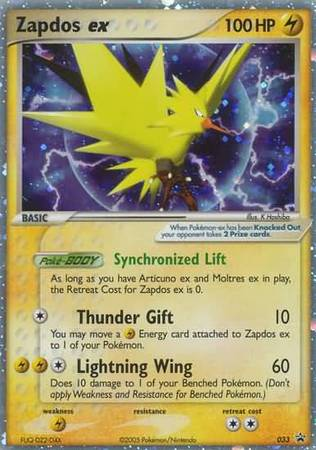 Zapdos Ex 033 Ultra Rare Pokemon Promo Cards Pokemon