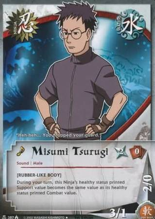 Misumi Tsurugi 387 Uncommon Naruto Lineage Of The