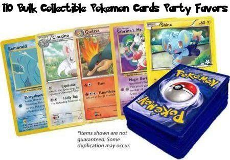 110 Bulk Collectible Pokemon Cards Party Favors Pokemon Pokemon Lots Amp Bundles Pokemon