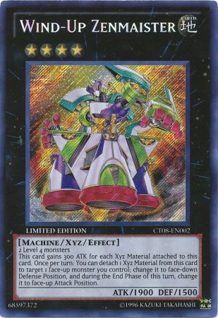 Wind Up Zenmaister Ct08 En002 Secret Rare Yu Gi Oh