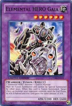 Elemental Hero Gaia Ct08 En011 Super Rare Yu Gi Oh