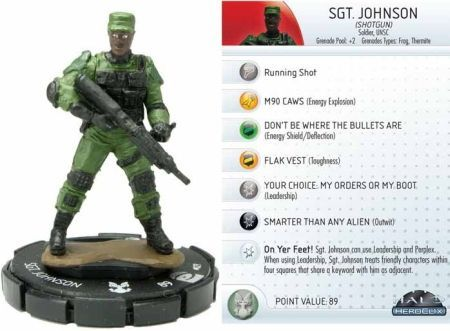 Sgt Johnson Shotgun 027 Halo Heroclix Other Halo