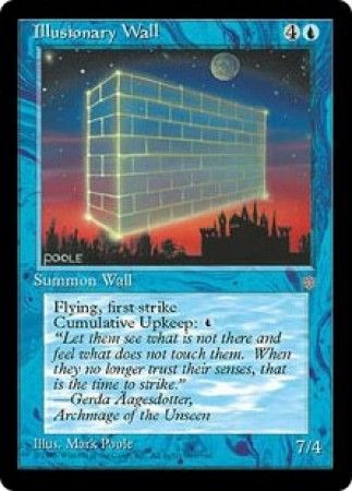 Illusionary Wall Ice Age Singles Magic The Gathering